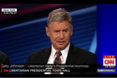 Libertarian town hall: Johnson and Weld sell a ticket of 'optimism'