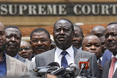 Kenyan opposition leader Odinga calls country's election a 'sham'