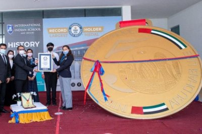 School in UAE breaks Guinness record with world's largest medal
