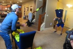 Idaho man catches balls with bucket on his head to reclaim Guinness title