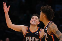 NBA playoffs: Devin Booker scores 47, Suns eliminate hobbled Lakers
