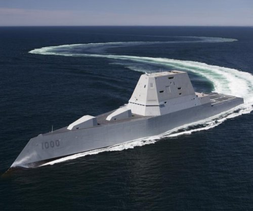 Navy takes delivery of Zumwalt-class destroyer
