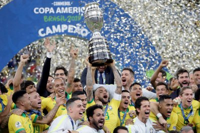 Copa America: Gabriel Jesus leads Brazil over Peru, gets sent off