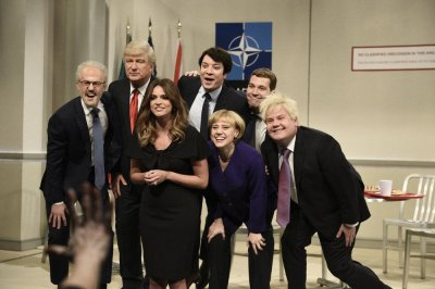 Jimmy Fallon, Paul Rudd, James Corden drop by for 'SNL' NATO cafeteria sketch