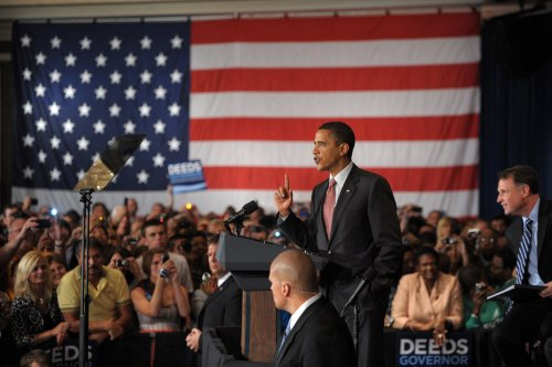 Obama stumps for Deeds in Virginia