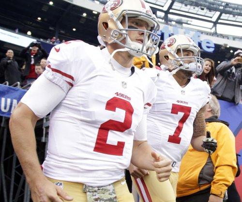 "San Francisco 49ers: Blaine Gabbert and Colin Kaepernick ""even"" in QB battle"