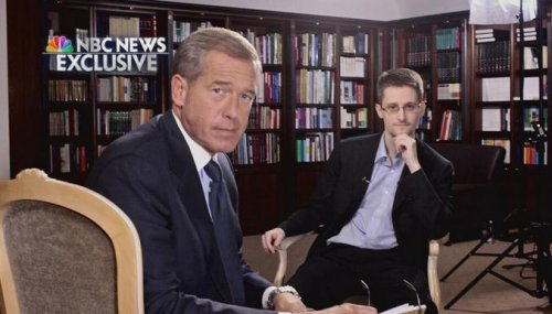 Brian Williams lands Edward Snowden's first U.S. TV interview