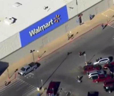 Shooter kills 2 at Walmart near Oklahoma-Texas border