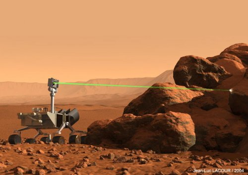 Curiosity laser set for target practice