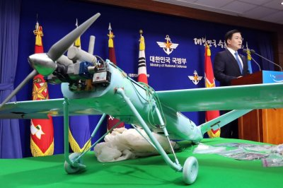 North Korea drone was made with U.S. parts, Seoul says