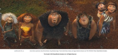 Nicolas Cage says he didn't meet his 'Croods' clan while making the film