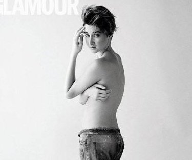 Shailene Woodley goes topless for Glamour U.K.