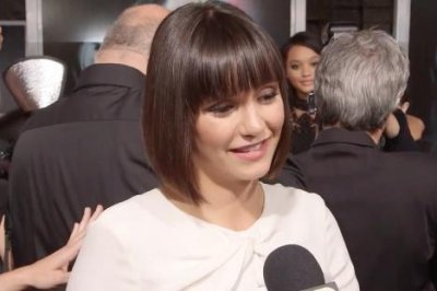 Nina Dobrev debuts bob with bangs at 'Flatliners' premiere
