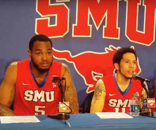 No. 24 SMU tops UConn, stays tied for AAC lead