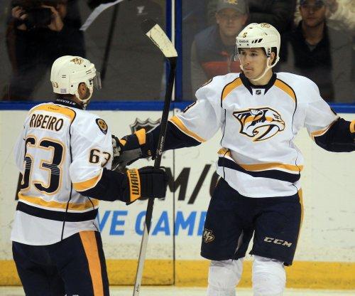 Filip Forsberg fluke the difference as Nashville Predators edge Anaheim Ducks