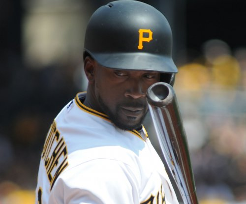 Pittsburgh Pirates' McCutchen leaves after HBP on elbow