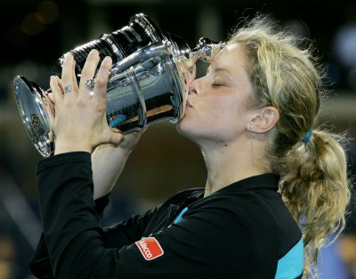 Clijsters wins U.S. Open, drops in ranking