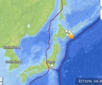 5.5-Magnitude earthquake strikes off the coast of Japan
