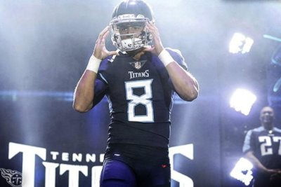 Titans unveil new blue helmet, uniforms