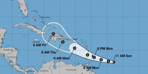 Strengthening Tropical Storm Dorian to target Lesser Antilles early this week