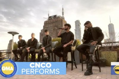 CNCO performs 'Hero' on 'Good Morning America'