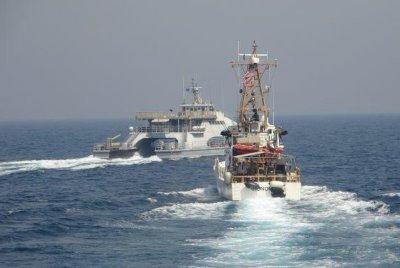 Iranian ships again harass Coast Guard cutters in Arabian Gulf, Navy says