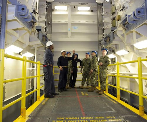 First advanced weapons elevator completed on USS Gerald R. Ford