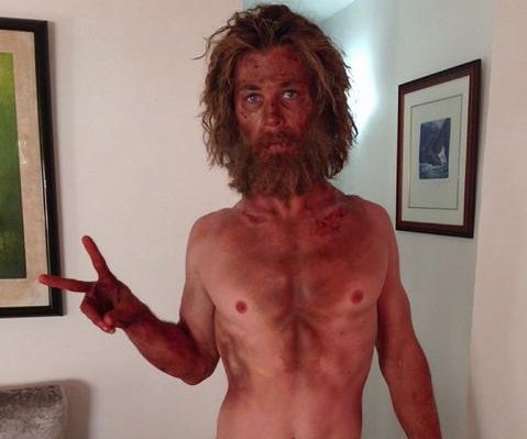 Chris Hemsworth shares photo showing shocking weight loss for 'In the Heart of the Sea'