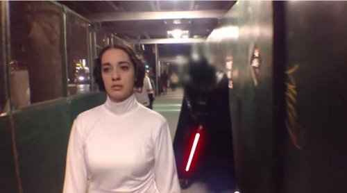 Princess Leia stars in New York catcalling parody