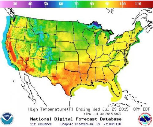Scorching heat grips U.S. from coast to coast
