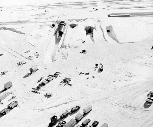 Melting ice sheet may expose Cold War base, hazardous waste