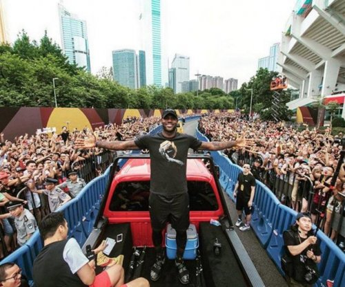LeBron James: China holds parade for Cleveland Cavaliers superstar