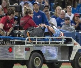 Home plate umpire Dale Scott released from hospital after being stretchered off previous night