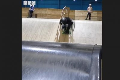 British 13-year-old pulls off wheelchair backflip after six hours of attempts
