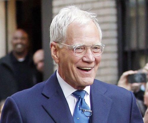 David Letterman shocks with bald head and beard