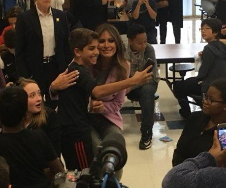 Melania Trump makes surprise visit to Detroit school