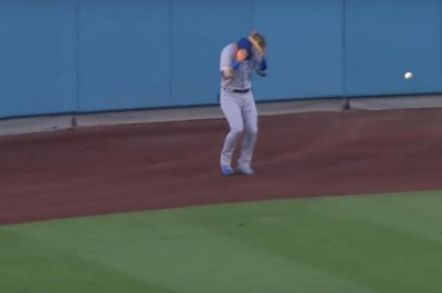 Dodgers' Muncy homers, ball comes back to hit outfielder in head