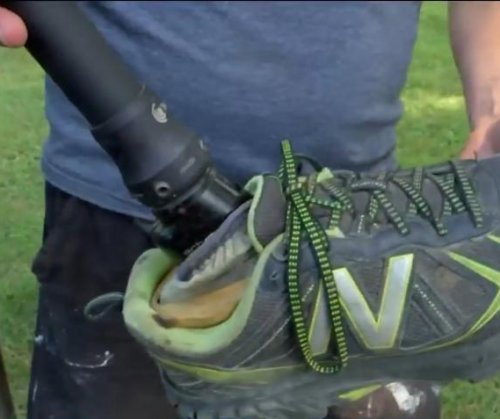 Farmer finds prosthetic leg dropped by skydiver