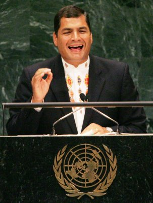 Ecuadorian president wins election handily