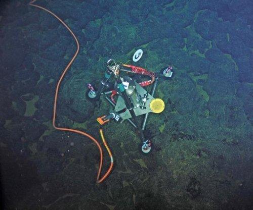Sea-floor sensors detect possible volcanic eruption
