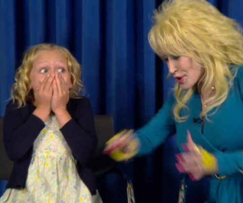 Dolly Parton surprises young actress who will play her in NBC's 'Coat of Many Colors'