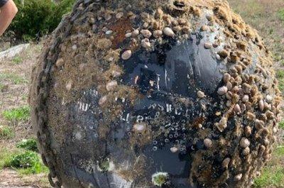 Submarine training target washes up on North Carolina beach