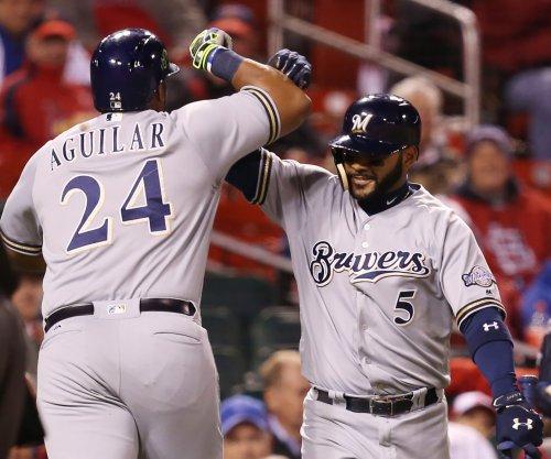 MLB roundup: Jesus Aguilar's 7 RBIs help Milwaukee Brewers belt New York Yankees
