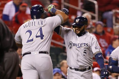 MLB roundup: Jesus Aguilar's 7 RBIs help Milwaukee Brewers belt New York Yankees