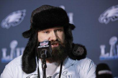 Philadelphia Eagles' Jason Kelce gives emotional Super Bowl speech
