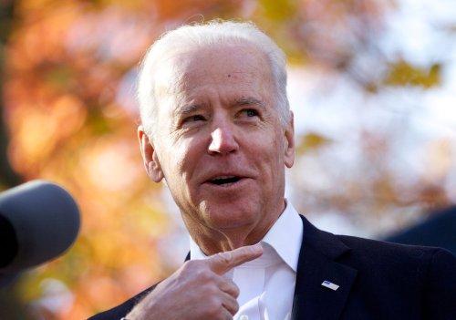 Vice President Joe Biden's roaming right hand captured in White House reporter's Facebook photo