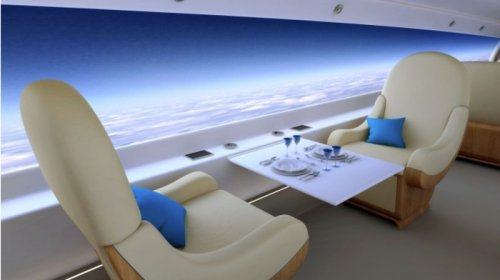 Proposed supersonic plane to do without windows, video screens instead