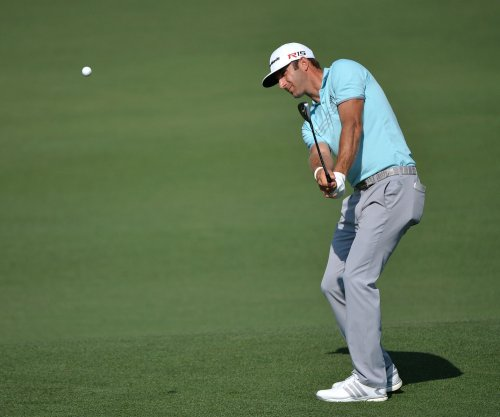 Dustin Johnson cards three eagles in second round at Augusta
