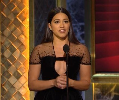 Gina Rodriguez delivers heartfelt tribute to Rita Moreno