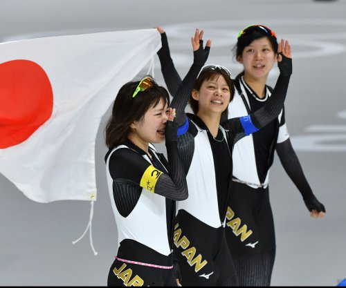 Japan wins gold in women's speed skating team competition